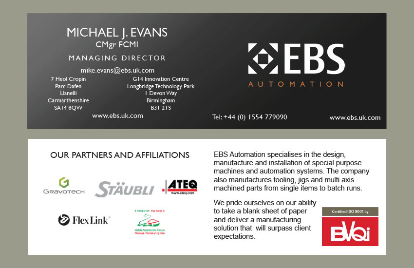Ebs automation business cards buzinet web design pembrokeshire ebs automation business cards reheart Image collections